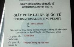 Từ 1/3, Sở GTVT Hà Nội sẽ thực hiện cấp giấy phép lái xe quốc tế